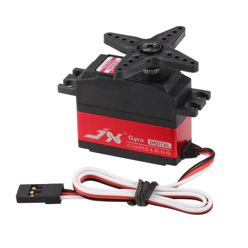 JX PDI-2535MG 25g de Metal Gear Digital sin núcleo Servo cola para RC 450 500 helicóptero fijo-ala del avión Motor