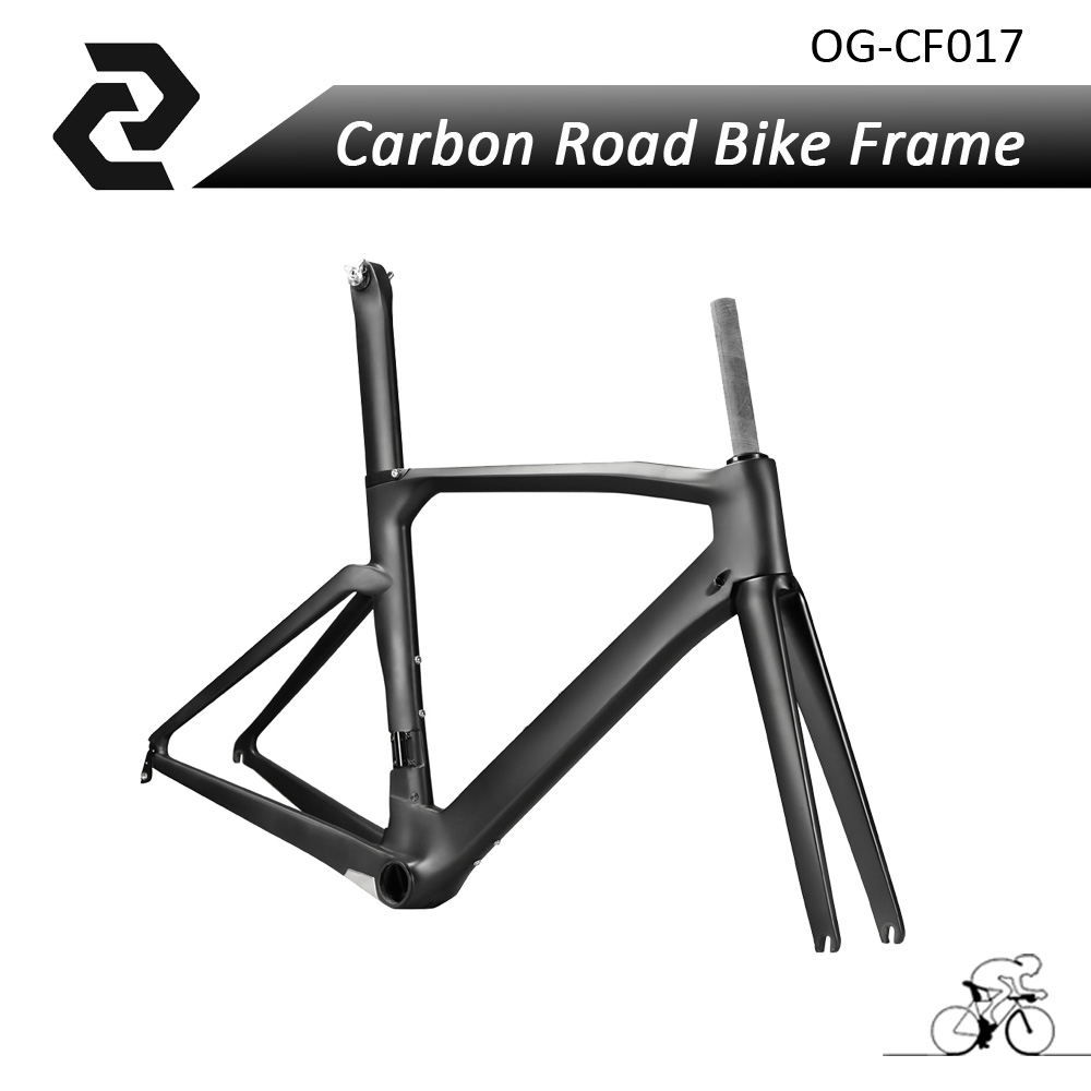 OG-EVKIN Hot Sell Carbon Fiber Road Bike Raw Bicycle Cycling Frame BB386 Glossy/Matt UD 48/50/52/54cm With Fork,Seat post,clamp