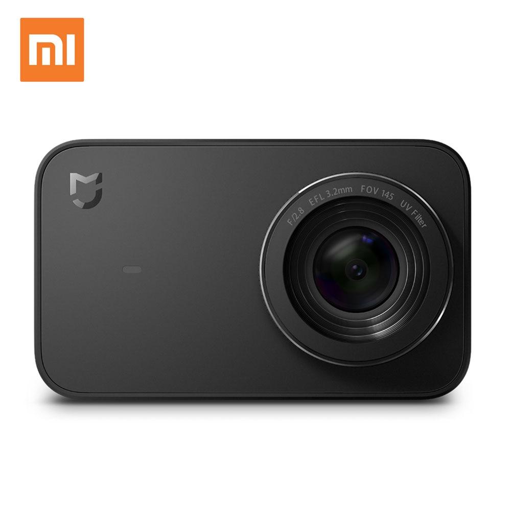 Xiaomi mijia мини Действие Спорт Камера 4 К 30fps видео Запись Wi-Fi Цифровые камеры 145 Широкий формат 2.4 дюймов Сенсорный экран App