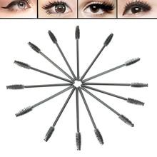 2017  50pcs Makeup Disposable Eyelash Mini Brush Mascara Wands Applicator Spoolers  JUL25_46