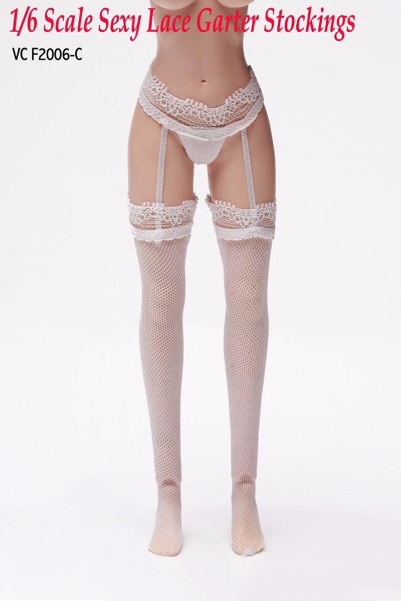 """Échelle 1//6 en dentelle Corset Gartering bas lingerie de 12/"""" PHICEN figure féminine"""