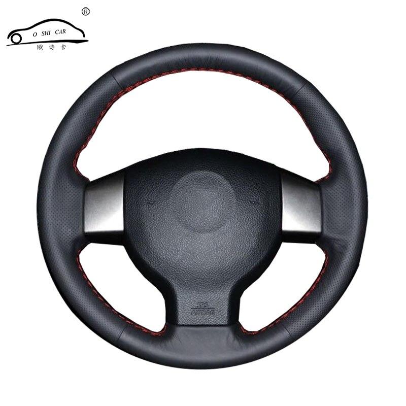 Tresse de volant de voiture en cuir artificiel pour vieille Note Nissan Tiida Livina Sylphy/housse de direction sur mesure