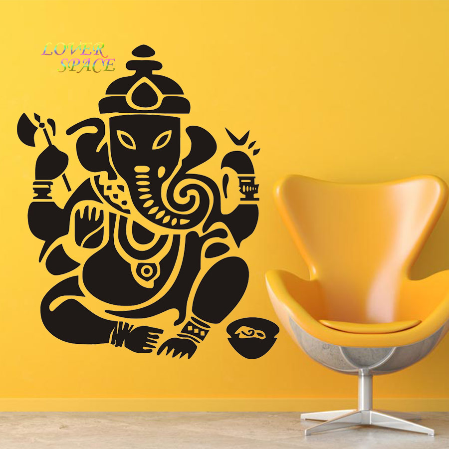 Wall decal Ganesh Buddhism India Indian Namaste Buddha God OM Yoga ...
