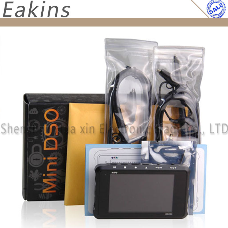 DSO203 MINI Portable Handheld Digital Oscilloscope 4 Channel 72M Sa/s DS203 Nano with X1 & X10 Probe цена