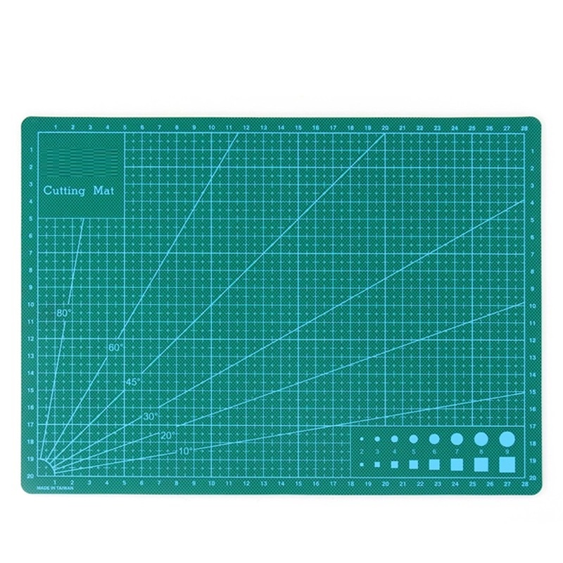 1pc A4 30x22CM A/B side PVC Self Healing Cutting Mat Multifunction Craft Quilting Grid Lines Printed Board top quality pvc rectangle self healing cutting mat tool non slip craft quilting printed professional double sided cutting mat