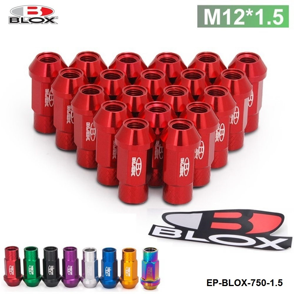 Blox Racing Forged 7075 Aluminum Wheel Lug Nuts P 1.5, L: 50mm 20Pcs EP-BLOX-750-1.5 клемма blox эт 120015