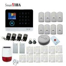 SmartYIBA WIFI 3G WCDMA Wireless Home Security Burglar Alarm System RFID Card Smoke Fire Sensor Detector Solar Power Siren