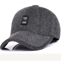 Good Quality 2017 Winter Baseball Cap Men Fashion Cap Woolen Fabric Hats Thick Warm Snapback Earmuffs