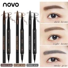 Novo Double-end Eye Makeup Set Eyebrow Pencil + Eye Liner 3 Color Waterproof Dye
