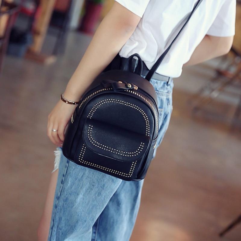 New Design Mini Rivets Backpack For Women Girls 2017 Children School Bag Women Backpack Mochila Escolar Female Rucksack (7)