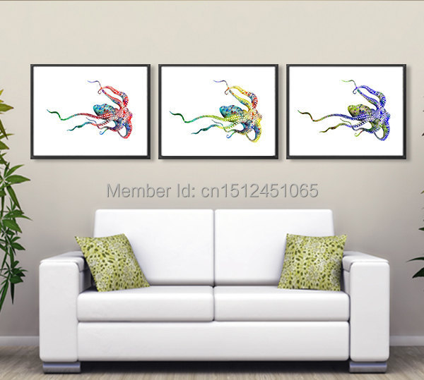 Aliexpress Com Buy 2015 New 3pcs Modern Kids Room Decor Abstract Octopus Wall Art Picture Home Decor Canvas Art Print Oil Painting Canvas Art Print From