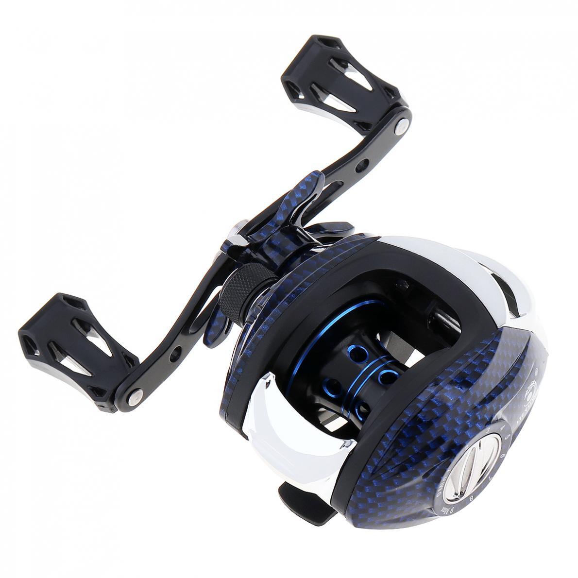 Right Left Hand Optional 15+1BB High Speed 7.2:1 Fishing BaitCasting Reel Snake Grain 215g Magnetic Brake Max Drag 8KG / 17.6LB