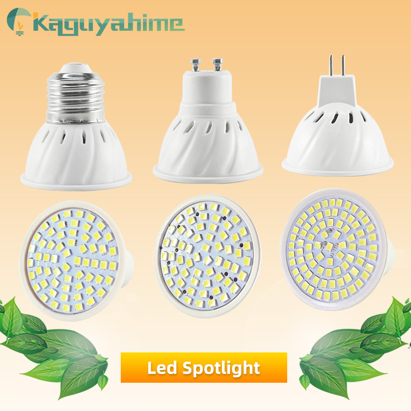 Kaguyahime 220V E27 MR16 GU10 LED Spotlight Bulb 240V 12V Bombillas LED Lamp Spot Light SMD 2835 Lampara High Bright For Home