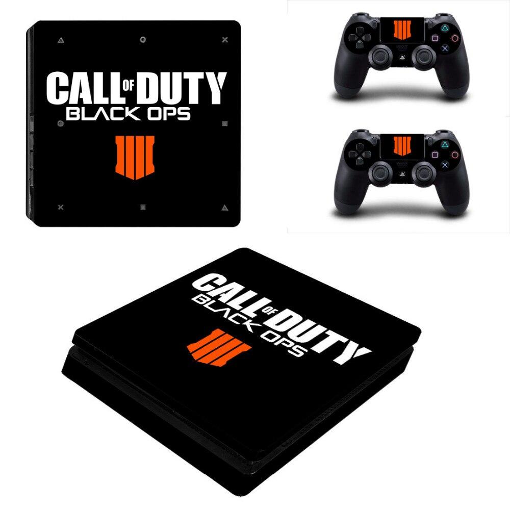 Call of Duty Black OPS 4 Battle Royale PS4 Pelle Sottile autoadesivo Della Decalcomania Del Vinile per Sony PlayStation 4 Console e Controller PS4 pelli