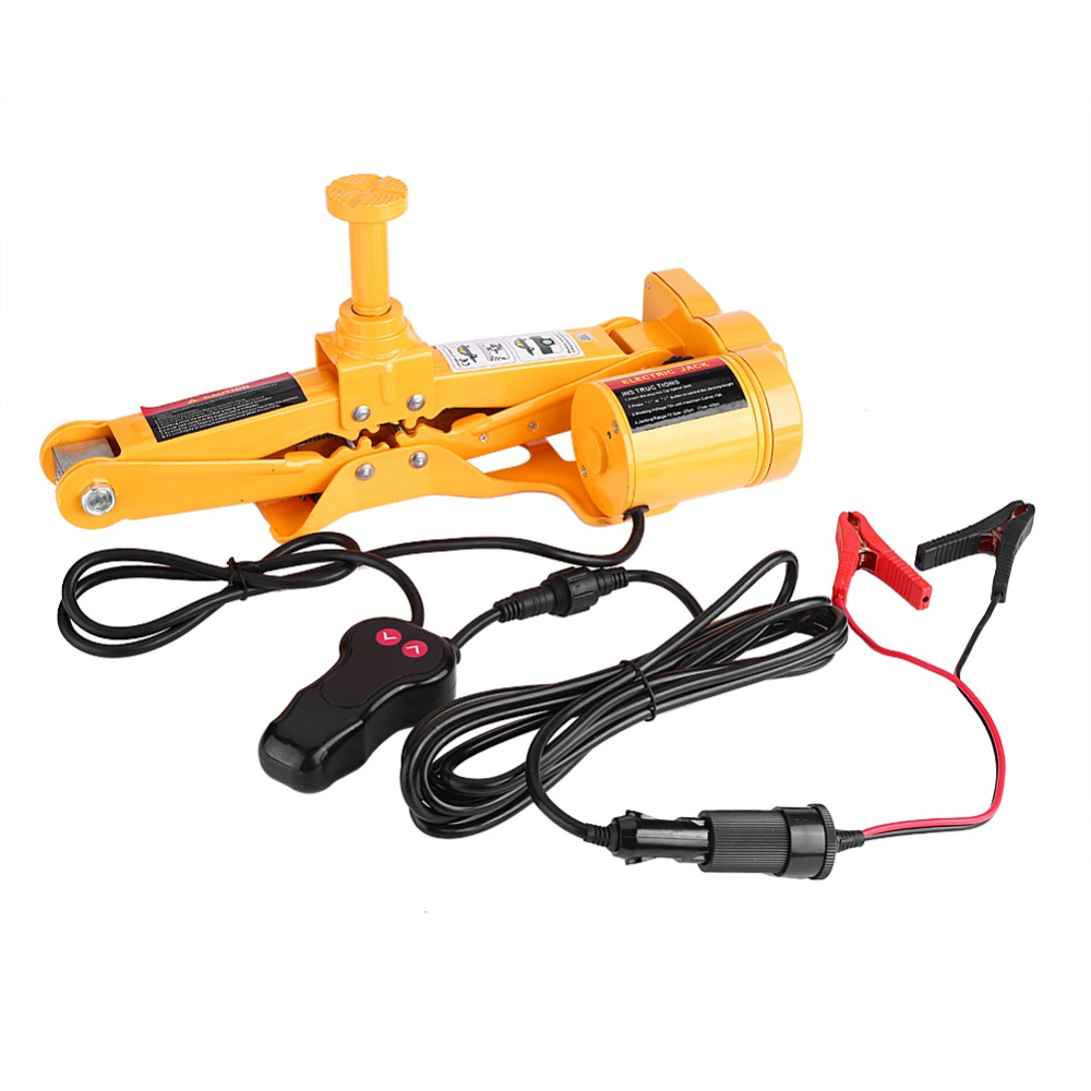 12V Automotive 3T Electric Jack Lifting Car SUV Emergency Tools With Impact Wrench Gloves Socket Adapter
