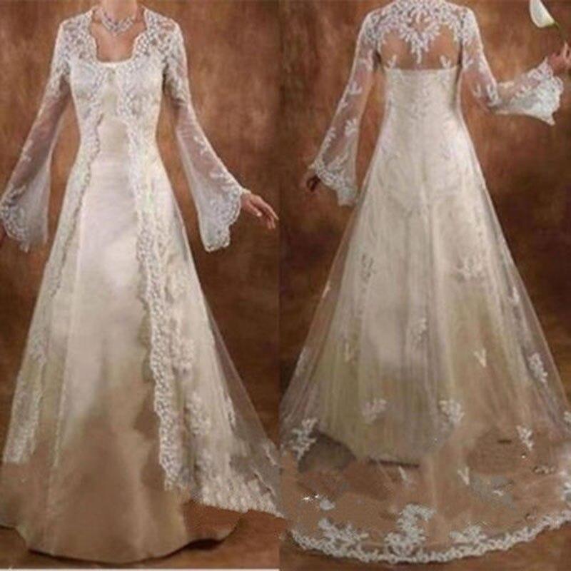 Long Sleeve Women Wedding Jackets Lace Long Bridal Wrap Wedding Party Coat Plus Size Wedding Accessories