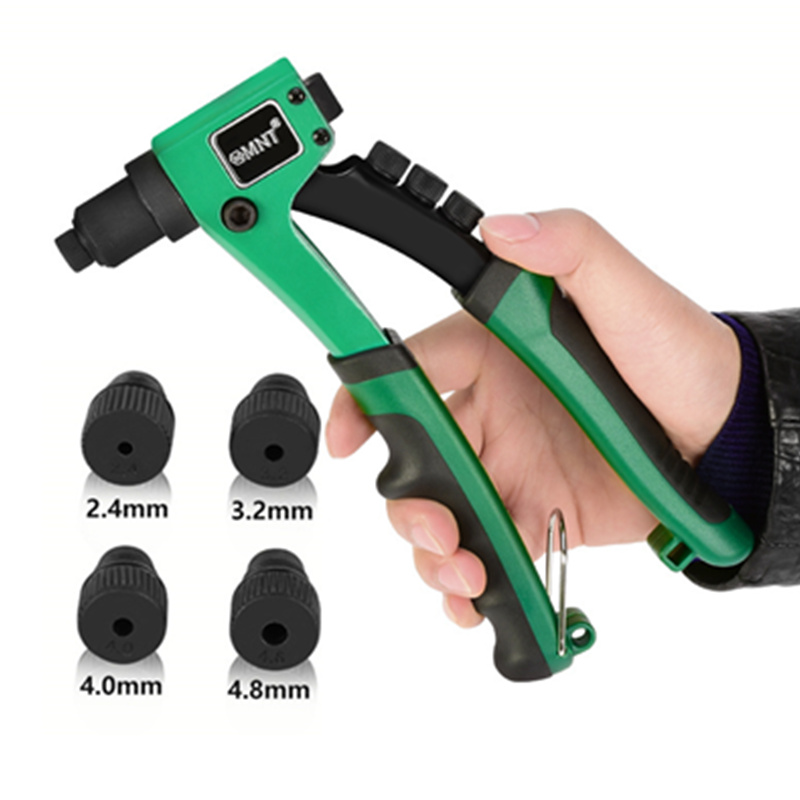 Professional Stainless Steel Light-weight Hand Riveter Manual Blind Rivet Gun Hand Tool With 50pcs Rivets