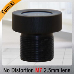 Yumiki 2.5mm M7 Lens 1/4 Inch 5MP IR F1/2.5 No Distortion lens for cctv camera wide angle 135degree