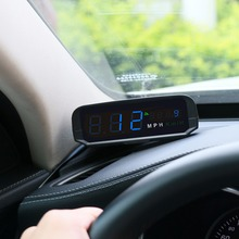 AUTOOL X100S Universal Car HUD GPS Head Up Display KM/h MPH Overspeed Warning Altitude Speedometer