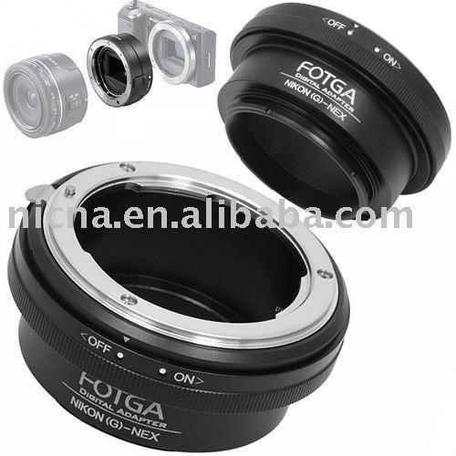 Fotga anillo adaptador para nikon lente g de sony nex-3 nex-5 e mount latón anillo adaptador al por mayor del oem