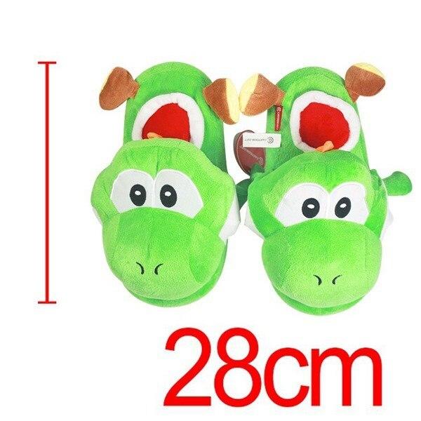 Anime Cartoon Super Mario Bros Yoshi Plush Zapatos En Casa Zapatillas De Casa De Invierno para Niños Mujeres Hombres Niños Zapatillas 28 cm