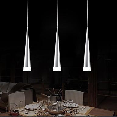 acrlico chapado de metal moderno colgante led luces de la lmpara para el hogar sala de