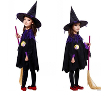 Halloween Children Kids Baby Girl Witch Cloak Hat Cosplay Costume Performance Clothes Do Not Include The