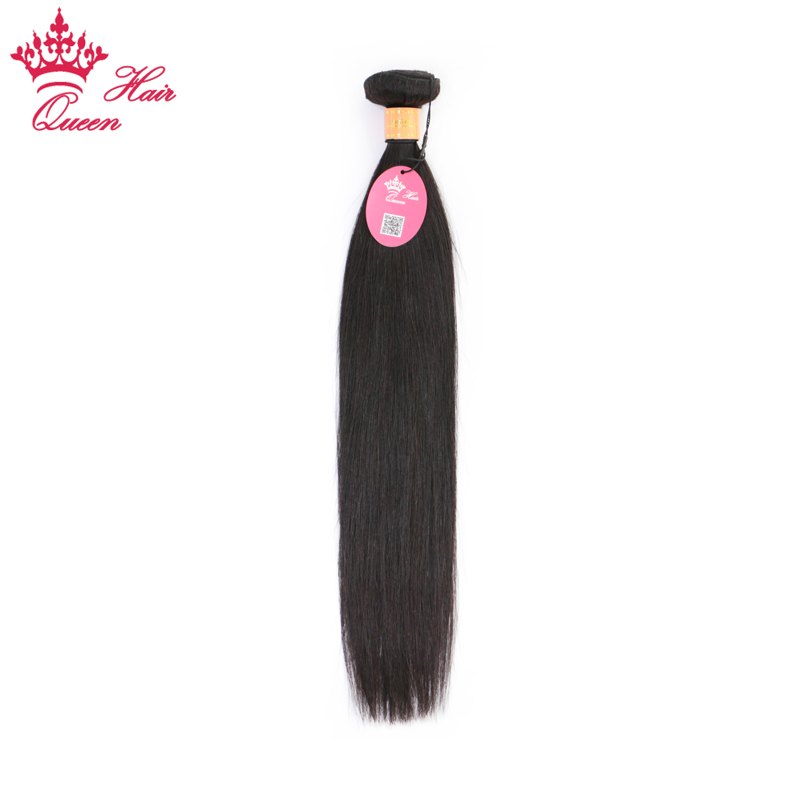 Queen Hair Products Indian Straight Hair 8-30 inch 100% Remy Human Hair Weave Bundles Machine Double Weft Natural Color