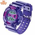 Новый бренд HOSKA детей часы класса люкс цифровые кварцевые спортивные наручные часы электронные водонепроницаемые мальчик в девочке отдых студент часы