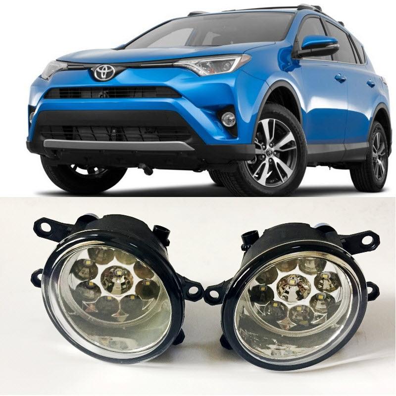 Car Styling For Toyota RAV4 Vanguard 2009 2012 9 Pieces Leds Fog ...