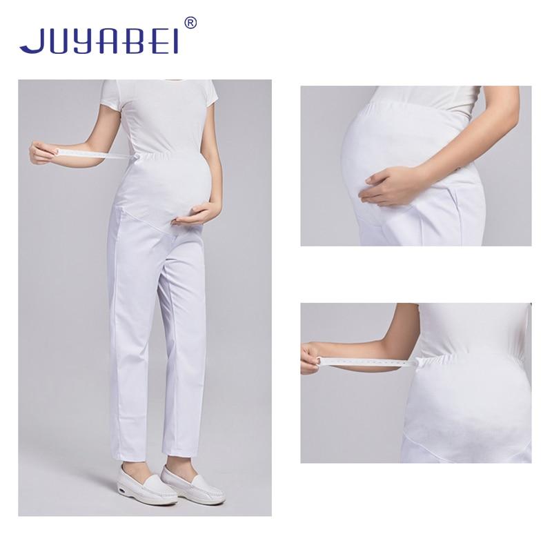 Pregnant Women Nurse Pants Full Stomach Lift Nurse Maternity Pants Adjustable Elastic Waist Doctor Nurse Work Pants Summer