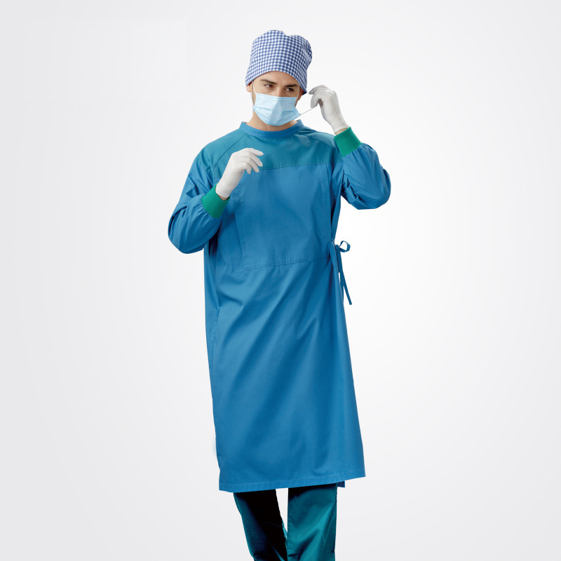Long Surgical Surgeon Gown Medical Clothing Reinforced Protective ...