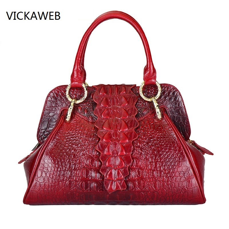 high quality women handbag genuine leather bag embossed crocodile pattern women leather handbags famous designer tote bags high quality authentic famous polo golf double clothing bag men travel golf shoes bag custom handbag large capacity45 26 34 cm