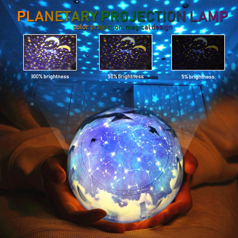 1pcs Novelty Night Lamp LED Projector Light USB Planet Earth Outdoor Holiday Lighting Party Xmas Lights Planet Projector Lights