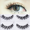 5pairs Makeup Handmade Natural Thick volume Messy Cross False Eyelashes Extension Long Full Strip fake Eye Lashes party club