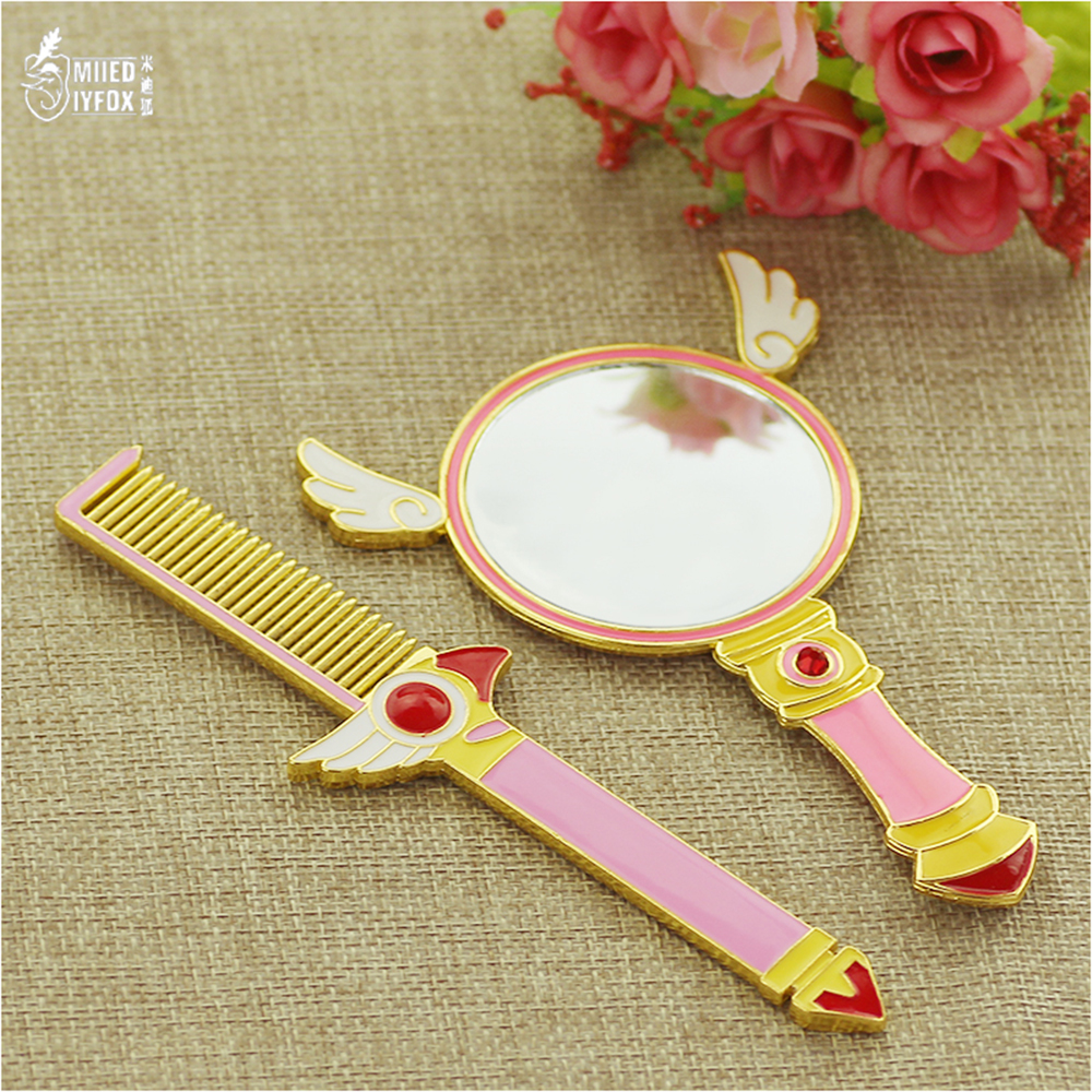 Hair Care & Styling Combs Free Shipping Pink Cardcaptor Sakura Comb Handle Beauty Bird Head Magic Comb Angel Wings Styling Hair Brush Women Gift Jewelry