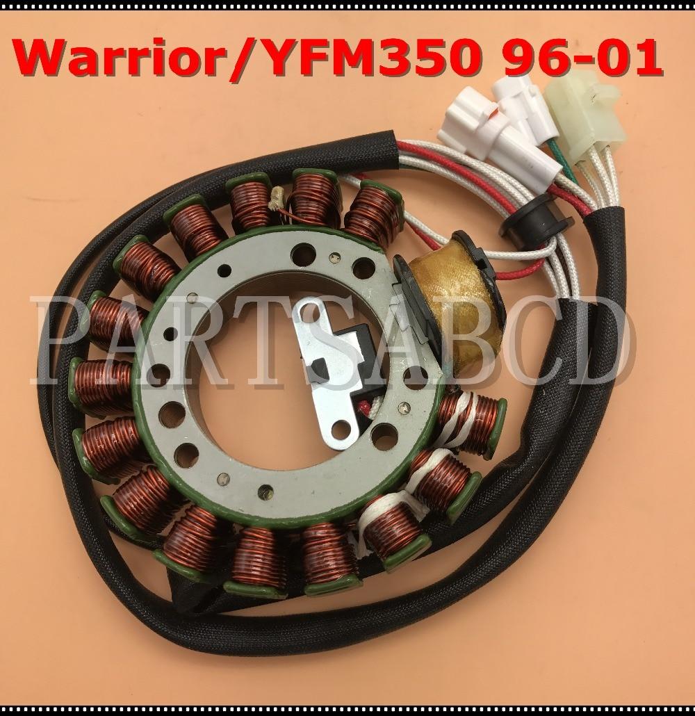 medium resolution of stator magneto for yamaha atv warrior 350 yfm350 96 01 magneto