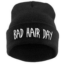 Freeshipping Зима весна плохие волосы день beanie cap шляпы для женщин мужчин, мода вязать лыж Skullies bonnet, gorro feminino inverno
