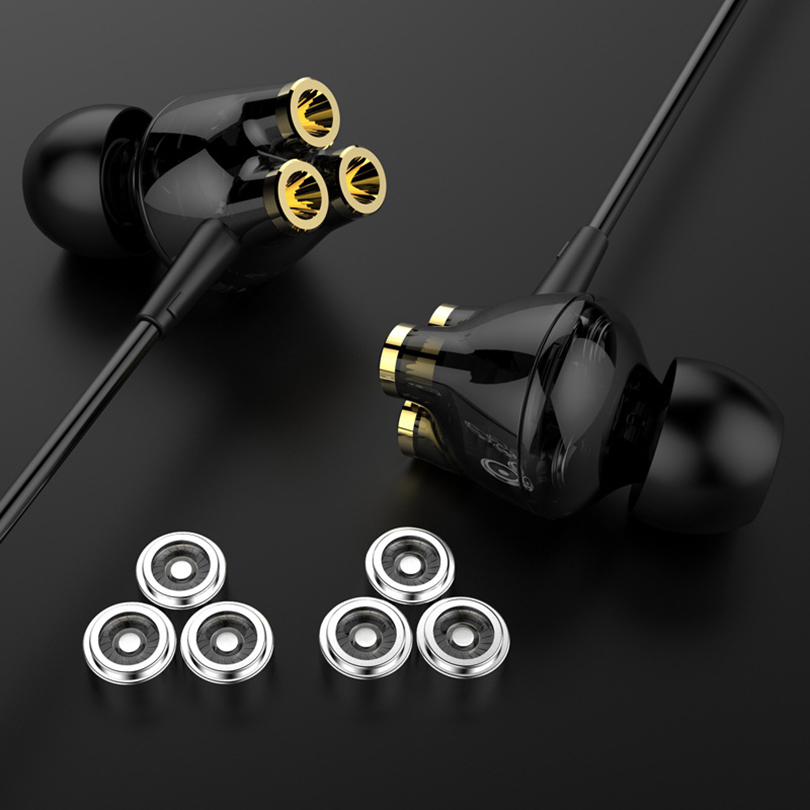 Aibesser triple moving coils 6 units wired ecouteur headset heavy bass universal 3.5mm earphone earbuds for Huawei P20 Mate 10