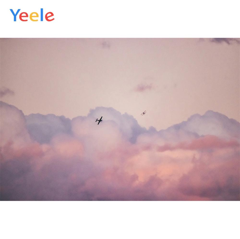 Yeele Landscape Photocall Cloud Sea Airplanes Decor Photography Backdrops Personalized Photographic Backgrounds For Photo Studio in Background from Consumer Electronics