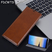 FDCWTS Flip Cover Leather Case For Samsung Galaxy S6 S6 edge S7 S7 edge S8 S8 Plus Note 8 N950 N950F N950H Wallet Flip leather