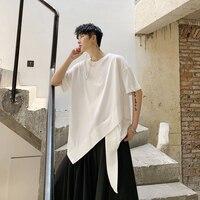 Men Summe Srhort Style Tees Shirts Short Sleeve Irregular Design Loose Casual T Shirt Male Women Streetwear Hip Hop Tshirt