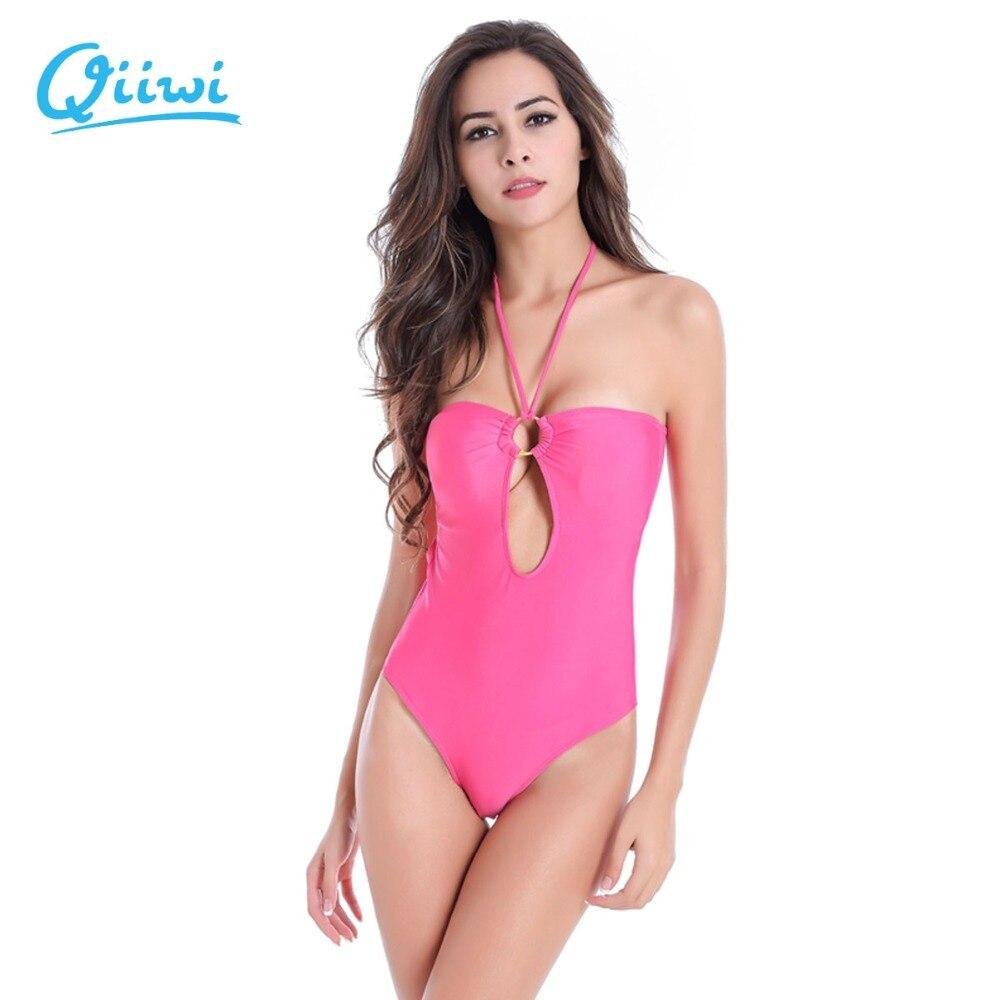 Bikini szett push up mély V-nyakú szexi egyrészes bikini brazil fürdőruha fürdőruhája Charm fürdőruha párnázással nőknek / lány