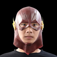 Lampa Błyskowa Superhero Movie Cosplay Halloween Maski Pełna Głowa Maska lateksowa DC Kolekcjonerskie Zabawki (czerwony) party mask