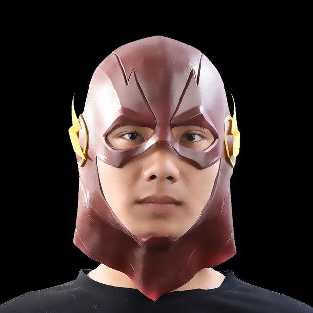 O Flash Filme Cosplay Halloween máscara de Cabeça Cheia Máscara De Látex Máscaras de Super-heróis DC Brinquedos Colecionáveis (vermelho) do partido da máscara