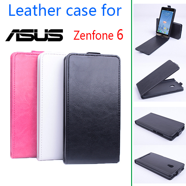 For Asus Zenfone 6 A600CG T00G A601CG Business Leather Skin Flip Vertical Cover For Asus Zenfone6 Durable Luxury Back Book Case