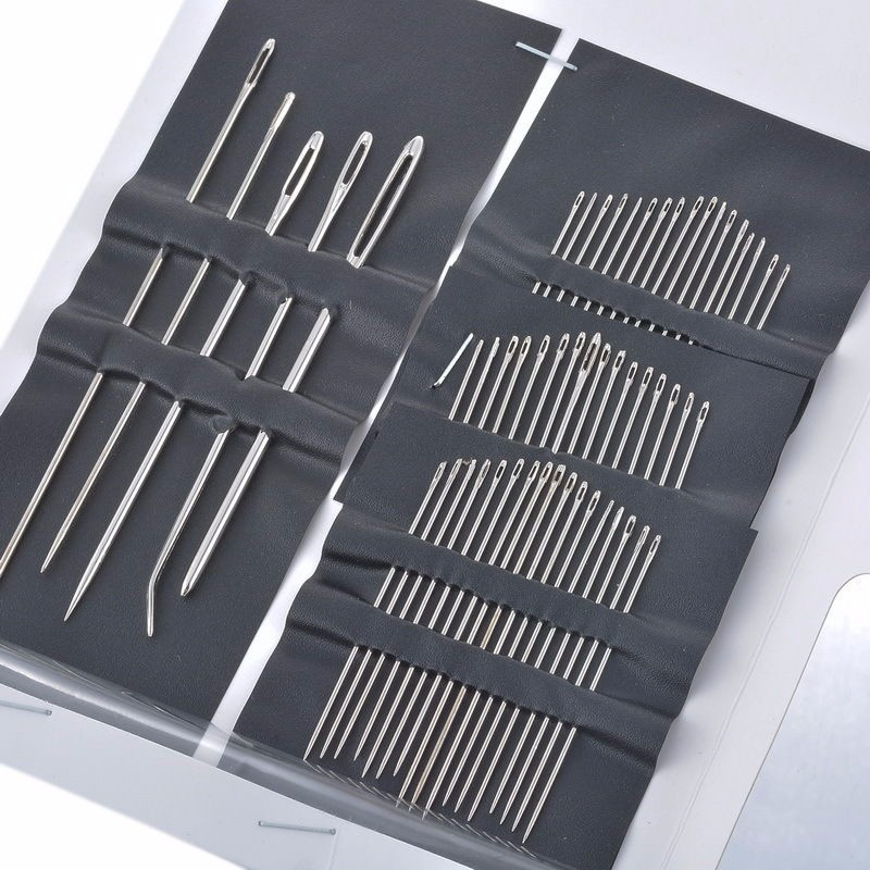 Hot 55pcs/set Multifunctional Hand Stitches Stainless Steel Sewing Pins Set Home DIY Crafts Household Sewing Accessories V3052