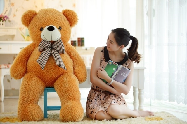 stuffed animal plush 120cm tie teddy bear plush toy orange teddy bear doll gift t6103 stuffed animal 120cm simulation giraffe plush toy doll high quality gift present w1161