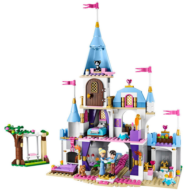697pcs Cinderella Romantic Castle Princess Friend Building Blocks For Girl Sets Gift Toys Compatible Legoingly Friends Bricks