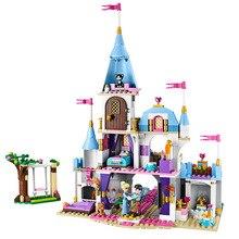 697pcs סינדרלה רומנטי טירת נסיכת חבר בניין בלוקים לילדה סטי מתנות צעצועי תואם Lepining חברים לבנים